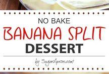 Banana splits dessert