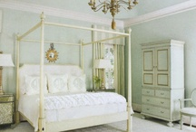 Bedrooms / white furniture, coastal, fluffy bedding, serene