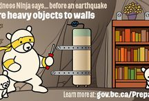Be a Preparedness Ninja! / A large-scale earthquake could take place in BC at any time. And while no one has a crystal ball, what is clear is that British Columbians need to personally prepare right now.   That's where Preparedness Ninja comes in. Calm, disciplined, skilled and intelligent, Preparedness Ninja is serious about guiding others in the art of earthquake readiness to help keep everyone safe.   Learn more at http://www.gov.bc.ca/PreparedBC