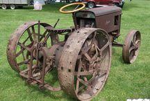 Rusty tractors