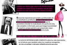 Guia de Diseñadores / Guia de Diseñadores de Moda #biografia #fashion #designers #guide #moda #diccionario #coolhunting http://www.theunlimitededition.com/category/nombres-disenadores