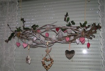 Ellen's handmade Christmas decorations