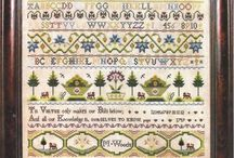 Victorian samplers / When I see these I'm not always sure being confined to your home forced to spend all day stitching is a bad thing. Not all of these are strictly Victorian, being outside Queen Victoria's reign, but they might well have hung in a Victorian parlor.