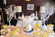 Bridal Showers / Yellow themed bridal shower