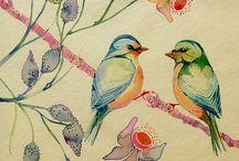 uccellini da dipingere