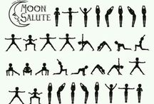 Yoga moon salutation / The moon salutation yoga sequence of movements are a a cooling and soothing alternative to the more energising sun salutation yoga suequence.