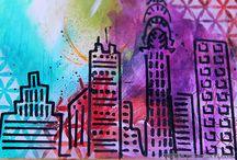 Pretty Artsy / Art journaling ideas