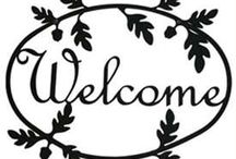 Wrought Iron Outdoor Welcome Signs