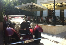 Legendary cars  / On their way to the international tour Amsterdam - Amsterdam (started 2006), 7 legendary amazing cars stopped at Epoque. The star of the convoy was definetely a Bugatti from cca. 1930, seconded by a Lagonda from cca. 1933.