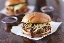 Fleisch Gerichte und Burger