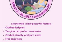 National Crochet Month 2017 / Check out all the designers, yarn companies, crochet-friendly yarn stores participating in our month-long blog tour. Lots of freebies, giveaways, and special coupon codes and sales.