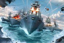 World of Warships / Gameplay z gry World of Warships w fazie beta.