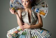 Paperfashion / Papieren kleding en assecoires