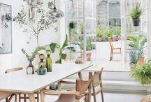 Blomster på kjøkken