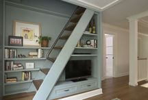 Attic walk in wardrobe