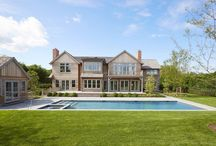 649 Hedges Lane, Sagaponack NY / A new construction turn-key home by Lifton Green has presented itself on the highly sought after Hedges Lane in Sagaponack. This perfectly hedge-lined 1.5 acre property consists of a 9,000SF+/- modern barn style home on three levels with other amenities such as a 18x55 heated gunite pool with 7x7 built in spa, pool house with kitchen and full bath, and sunken North/South tennis court.