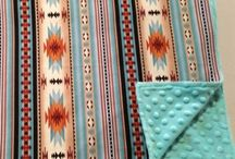 Western baby shower gifts / Western cowboy and Navajo print baby items perfect for baby shower gifts