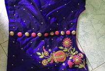 blouse with band hand and embroidery