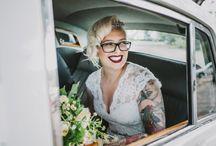 Mariées tatouées / Inked bride, ink, tatoo