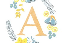 Lettering // alphabet / by Wendy