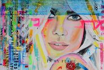 My paintings by Saatchiart.com ☆ / Buy my original paintings en collage arts by Saatchi art!