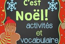 French Christmas Songs and Crafts / French Vocabulary, Art, and Writing Resources! Songs for Primary school, Maternelle, Grade1, Grade 2 and Grade 3.