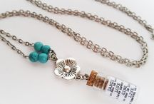 my Jewellery / I love making things and I have recently become obsessed with miniature glass bottles…...