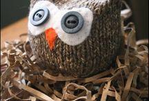 Knitted Animal strikket dyr