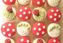 Ladybug Cup Cakes