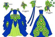 costumes: dresses