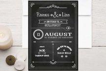 Invitations design / Graphic design invitations