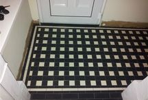 Victorian Floor Tiles - Rectangular Patterns / A wide range of VIctorian floor tile patterns made up of rectangles. Quarry tiles of different colours and sizes used to create these majestic patterns.