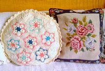 my crochet pillows