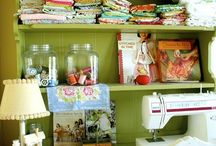 DREAM Sewing/craft room! &&ideas.  / by Shea McSpadden