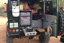 Land Rover Defender camping gear