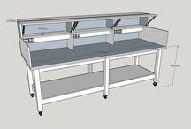 Praktische meubels / Prakitsche en leuke meubels van hout of steigerhout