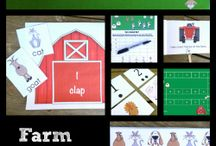 Farm unit pre-k / by Paige Curtis