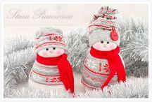 Bałwanki ze skarpetek - Sock snowman / Bałwanki wykonane ze skarpetek, skarpetowe bałwanki, bałwan ze skarpetki