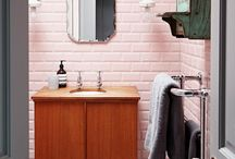 dusty pink bathroom