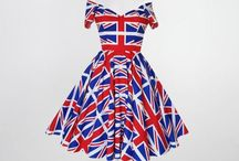 Royal Wedding Celebrations - dress and outfit inspiration by Fullilove Designs / Union Jack dresses and British themed dresses with a 50s vintage twist. Swing dresses, off the shoulder dresses and wiggle/ pencil dresses made in the UK by Fullilove Designs in sizes 6 to plus size 26. Perfect for Royal Wedding Parties and summer celebrations.