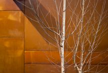 Corten steel walls and gates