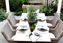 Outdoor dining and living