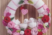 Crochet wreaths