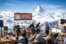 Zermatt Unplugged / A unique acoustic festival in the heart of the Swiss Alps. International stars, singer songwriters and newcomers celebrate good, honest and unadulterated sounds on the marquee stage, at vernissages, at Sunnegga and on the New Talent stages. / by Zermatt - Matterhorn
