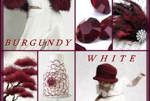 burgundy and white or grey