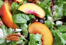 Peach, feta and pecan salad | Green Valley Kitchen