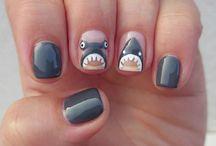 Shark nail designs