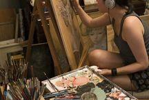 La delizia del caos dell'artista