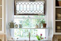 Kitchens / Kitchen, White Cabinets, Farmhouse Style, Interior Design, Kitchen Design, DIY, Kitchen Decor, Kitchen Island, Subway Tile, Hutch, Kitchen Nook, Breakfast Nook
