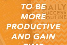 http://dailysuccessroutine.com/5-easy-ways-to-be-more-productive-and-gain-time-back/